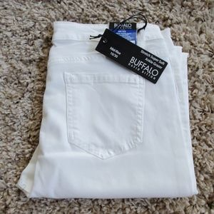 David Bitton Midrise Super Soft White Ankle Jeans